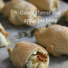 Goats cheese and apple pie bites