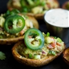 Vegan Guacamole Potato Skins with Ranch Dressing