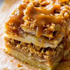 Salted Caramel Apple Pie Bars