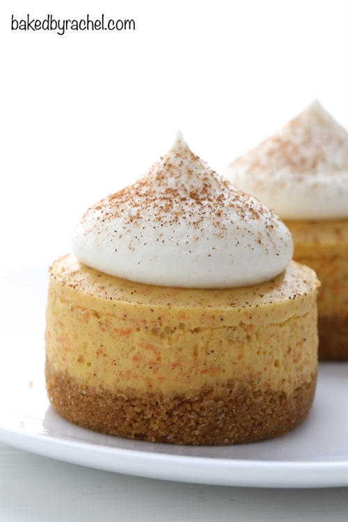 No Bake Mini Carrot Cake Cheesecakes
