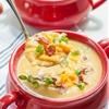 Slow Cooker Sweet Potato and Cauliflower Soup