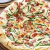 Asparagus, Bacon, and Goat Cheese Pizza