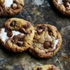 Brown Butter Pumpkin Nutella Chip Smores Cookies