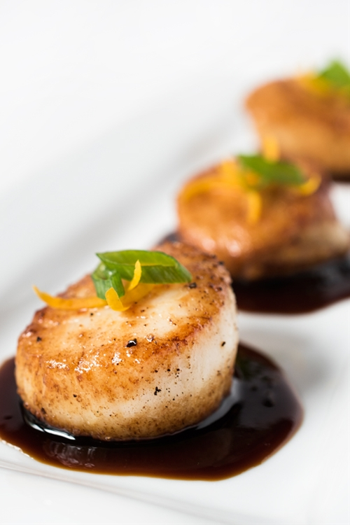 Orange-Soy Glazed Scallops