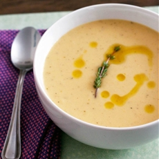 Roasted garlic soup