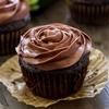 Skinny Chocolate Zucchini Cupcakes