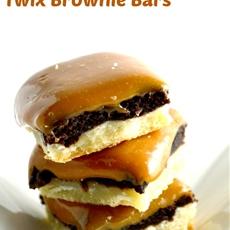 Ooey Gooey Twix Brownie Bars