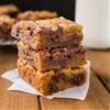 Nutella Swirled Brown Butter Chocolate Chip Cookie Bars with Sea Salt