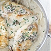 Chicken in Garlic Mushroom Cream Sauce