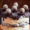 Peanut Butter Cup & No-Churn Cookie Dough Ice Cream Cake