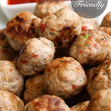 Thai Spiced Mini Chicken Meatballs