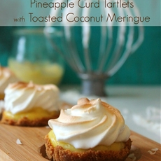 Pineapple Curd Tartlets with Toasted Coconut Meringue