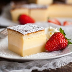 Magic 3 Layer Custard Cake