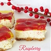 Raspberry Homemade Cheesecake Bars