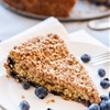 Mostly Healthy Cinnamon Blueberry Coffeecake