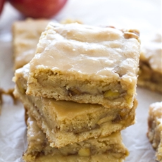 Maple Glazed Apple Blondies