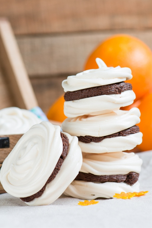 Chocolate Orange Meringues