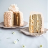 Peaches and Cream Vertical Roll Cake