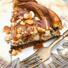 Nutella & salted caramel cheesecake