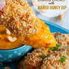 Crispy Cashew Coconut Crusted Chicken Tenders with Mango Honey Dip