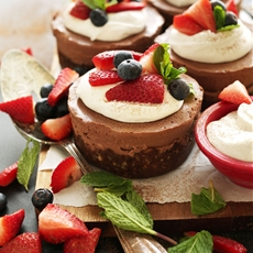 No Bake Chocolate Cheesecakes