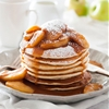Pancakes with Cinnamon Apple Caramel Syrup