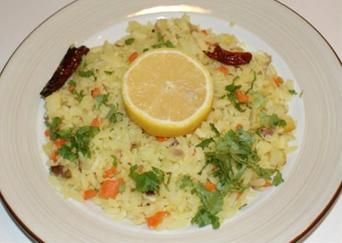 Lemon Poha (Lemon Aval)