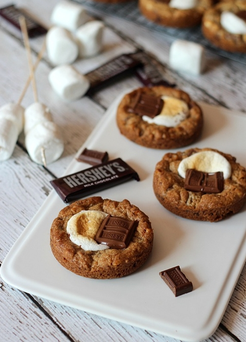 Deep Dish S'mores Cookies