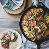 Oven-Roasted Ratatouille with Fresh Basil Sauce