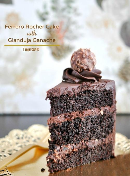 Ferrero Rocher And Gianduja Chocolate Cake