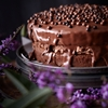 Chocolate Truffle Cake with Chestnut Cream and Ganache