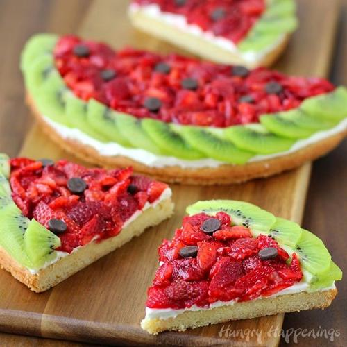 Strawberry Kiwi Fruit Pizza Watermelon
