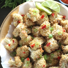 Baked Salt & Pepper Cauliflower Bites