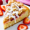Strawberries n Cream Crumb Cake