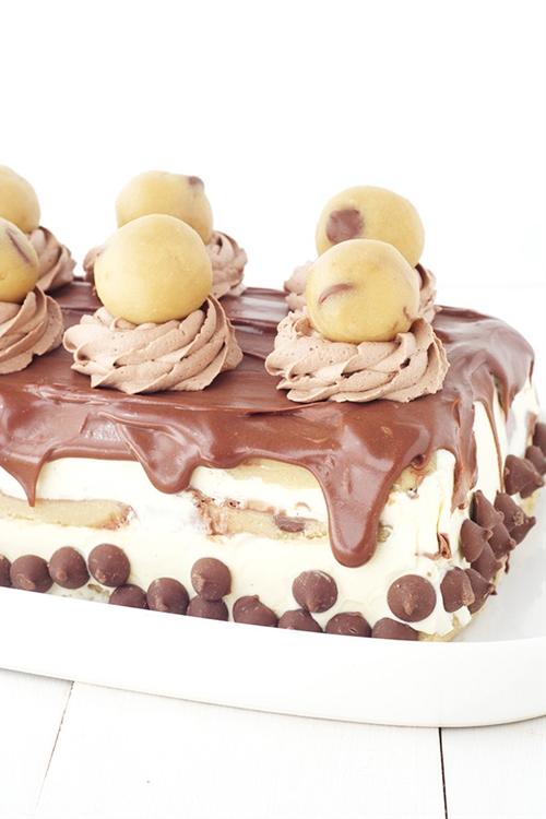 Cookie Dough Ice Cream Layer Cake