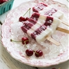 Sweet Cherry-Bomb and Coconut Milk Pops