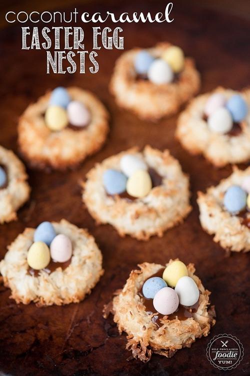 Coconut Caramel Easter Egg Nests
