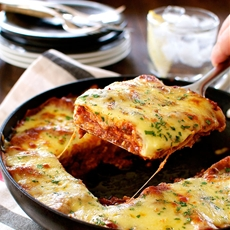 One Pot Beef Lasagna with Layers