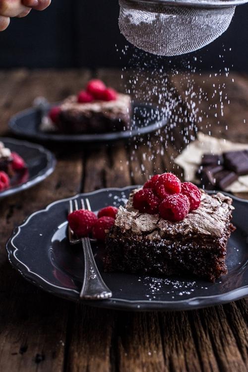 Chocolate Meringue Texas Sheet Cake