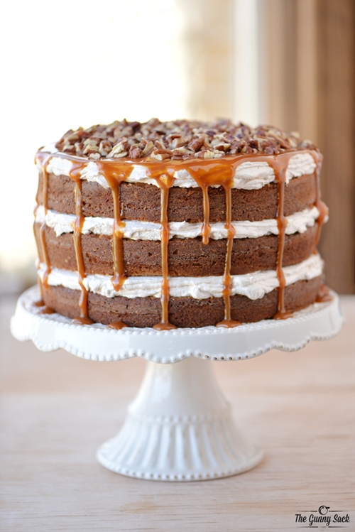 Caramel Pecan Carrot Cake