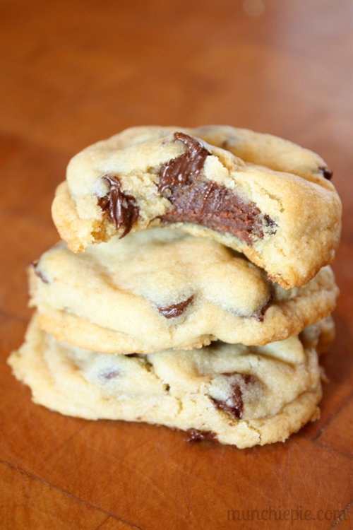 Fudge Filled Chocolate Chip Cookies