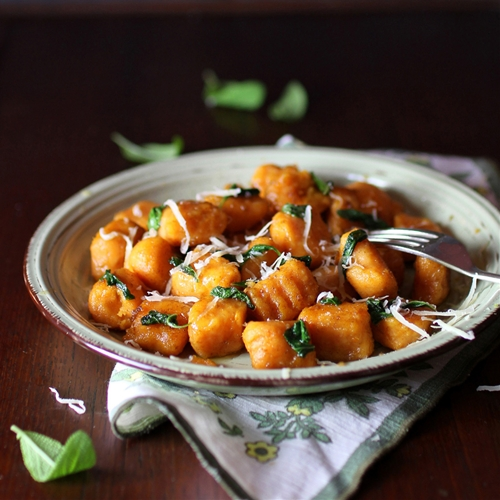 Sweet Potato Gnocchi with Burnt Butter & Sage Sauce