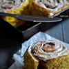 Pumpkin Cinnamon Buns with Maple Cream Cheese Frosting