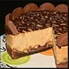 Reeses Peanut Butter Cup Cheesecake On A Brownie Crust