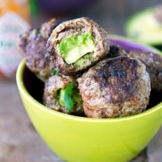 Avocado Stuffed Meatballs (Low Carb and Gluten-Free)