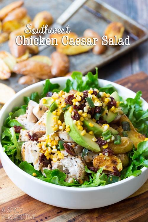 A Spicy Perspective Southwest Chicken Caesar Salad
