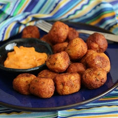 Pecorino Potato Pops with Smokey Chipotle Sauce
