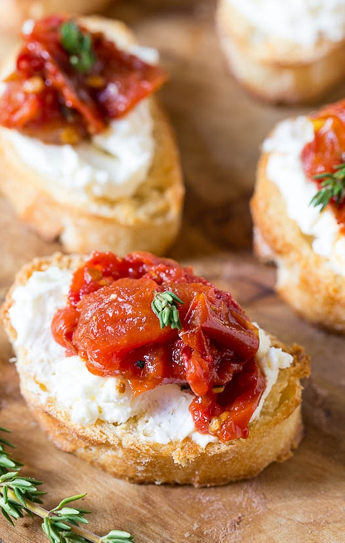 Tomato Jam Crostini