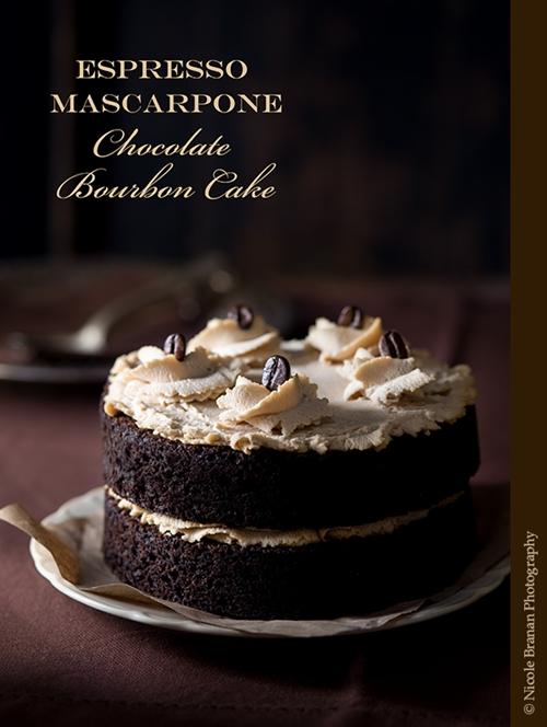 Espresso Mascarpone Chocolate Bourbon Cake
