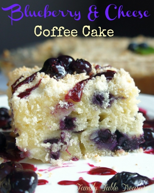Blueberry & Cheese Coffee Cake